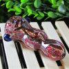 Tubulação de vidro da colher da listra colorida de vidro da tubulação da mão do tabaco de tubulação da água da tubulação