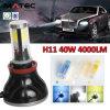 LED車のヘッドライトH1 H7 H11 H4 9005車のための9006 40W LEDのヘッドライト