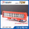 Barre automatique d'éclairage LED de rangée de double de lampe de travail du CREE 72W
