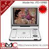 10.4 Multimedia reproductor de DVD portátil con DVB-T, la televisión analógica,juego (1098D)