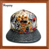 Sombreros planos y de cuero de encargo del Snapback de la corrección de la paleta y del hierro
