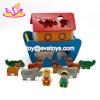 Nova melhores adoráveis animais a Arca de Noé de madeira para crianças W12D085