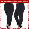 Гетры одежды йоги женщин черные в добавочном размере (ELTFLI-23)