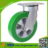 kern-Rad-Fußrolle des elastischen Polyurethan-8inch Aluminium
