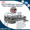 Máquina de rellenar líquida del pistón semiautomático para el líquido de lavado (G2WYD1000)