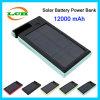 cargador de batería solar 12000mAh Powerbank con soporte para teléfono móvil