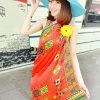 Châles rouges Chiffon de protection solaire de polyester de mode