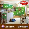Flor de la cocina brillante puerta del armario (ZH-C879)