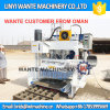 Bloco de cimento movente da colocação de ovo da maquinaria Wt10-15 de Wante que faz a máquina para o Sell