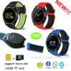 2017 Nouveau design ultraplat avec fente pour carte SIM Smart montre téléphone W9