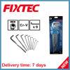 Fixtec 9PS 고정되는 CRV 크롬에 의하여 도금되는 HEX 키 렌치 손 공구
