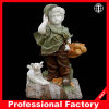 Bunte Jungen-Marmorstatue-Garten-Dekoration-Skulptur-Marmor-Skulptur