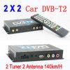 2 sintonizador 2 Antenas Receptor DVB-T2 de carro com MPEG4 / USB / PVR DVB-T22