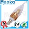 Luz teledirigida de cristal de la vela del mejor claro 3W LED de la calidad Mca03005