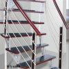 Cubierta de la escalera de acero y madera Espiral Integral Escalera Escalera Barandilla