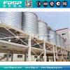 La parte inferior de la tolva de silo de trigo con el apoyo de la construcción de la estructura de acero