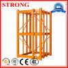 Schwarze Beschichtung/galvanisierte Stahlmast-Kapitel in der Aufbau-Hebevorrichtung/im Turmkran