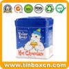 Square Chocolate tin box con Food Grade, Metal Contenedor de alimentos