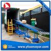 Робастный Extendible транспортер ролика силы тяжести для разгржать контейнер, корабли всех размеров