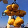 sacos enchidos água do peso 50t para o teste de carga do guindaste e do turco