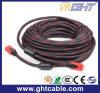 câble de la qualité HDMI de 1.5m avec le tressage en nylon 1.4V (D001A)