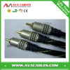 High End Metal Shell RCA Cable 3RCA to 3RCA