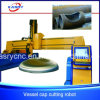 압력 용기 헤드 접시 헤드 뚜껑 CNC 플라스마 구멍 절단 또는 경사지는 기계