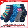Comercio al por mayor coloridos calcetines de algodón con todo tipo de telas Custom