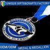 Médailles dures en métal de sport d'émail de qualité avec la bande