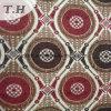 椅子および家具のための赤そしてブラウンの円のシュニールのジャカードファブリック