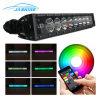 22  120W RGB LED 표시등 막대 7D 일 램프 Bluetooth APP& 철사 하네스 LED 표시등 막대