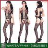 De nieuwe Sexy Nachtkleding van Crotchless van het Kant van het Ontwerp Zwarte voor Vrouwen