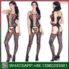 Women를 위한 새로운 Design Black Lace Crotchless Sexy Sleepwear