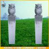 Decorazione di pietra del giardino delle sculture di disegno del gufo di notte della scultura