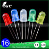 3mm 5mm LED 녹색 노란 빨간 파란 백색 LED의 둘레에 확산되는 비스무트 Pin 물