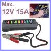 Bateria digital de 12V / testador de alternador com display de luzes de 6 LEDs Ferramenta de diagnóstico de bateria de veículo