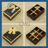 Boîte de Papier de cadeau d'emballage de chocolat avec Noeud de cabestan de soie (CMG-PCB-038)