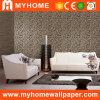 2016 el alto grado de profundidad de PVC resistente al agua en relieve el papel de pared para decorar