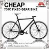 安くこんにちはTen Black 700c Fixed Gear Bicycle (ADS-7067S)