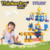 Brinquedos plásticos ambientais da instrução dos blocos de apartamentos