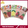 Ambientador de aire del colgante de papel de la fragancia de la fruta del regalo de la Navidad