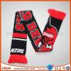JarmooのCusotmによって編まれるジャカードまたは刺繍のスポーツクラブのフットボールのアクリルのスカーフ