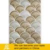 Mosaico de cerámica de forma de concha arte diseño blanco y marrón