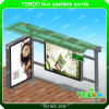 Outdoor Nice Appreance Firm Steel Publicité Bus Shelter Design