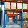 Cremagliera industriale durevole del magazzino del fascio arancione e del blocco per grafici blu