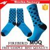 Glückliche Socken-Unisexbaumwolle punktiert Form-lange Socken mit Zoll