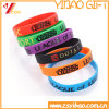 Wristband variopinto personalizzato del braccialetto del silicone con il marchio