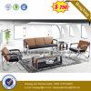 Sofá moderno del cuero de los muebles de oficinas con el metal (HX-CS094)