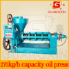 máquina da imprensa de petróleo da capacidade 270kg/H para a semente de linho (YZYX120-9)