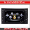 Reprodutor de DVD do carro para Hyundai/Nissan com o Internet de Dual Core 1080P V-20 Disc WiFi 3G do chipset A8 (CY-C001)